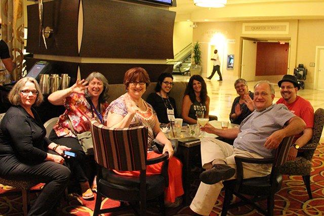 Judy Bobalik, M\'Lou Greene, Kathy Boone Reel, Gigi Pandian, Maddee James, Lesa Holstine, John Purcell, David Chaudoir - Bouchercon New Orleans 2016