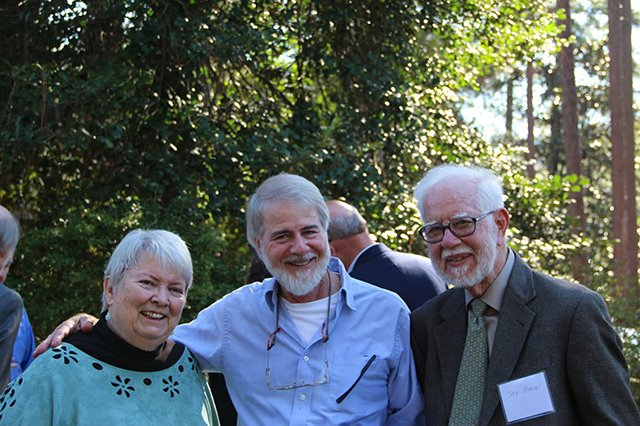 Margaret And Don And Joe - Margaret Maaron Being Inducted Into The North Carolina Literary Hall Of Fame - 2016