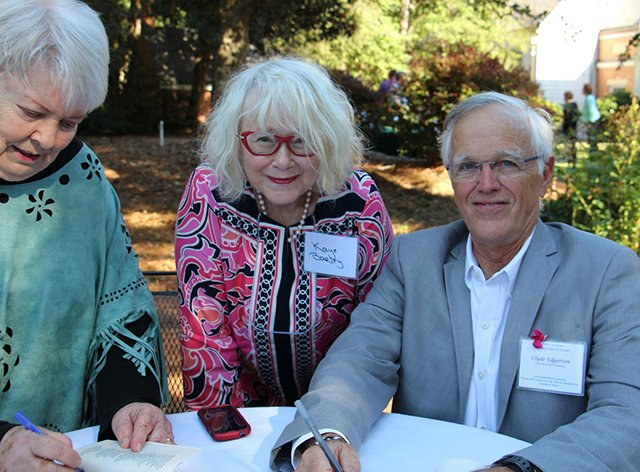 Margaret And Me And Clyde Edgerton - Margaret Maaron And Clyde Edgerton Being Inducted Into The North Carolina Literary Hall Of Fame - 2016