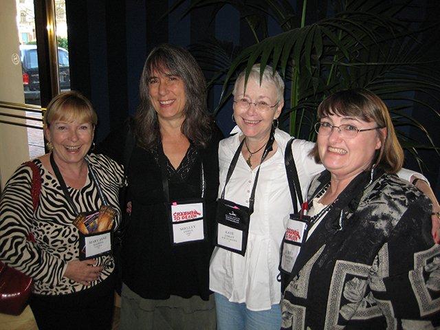 Mary Jane Maffini, Shelley Costa, Me And Aubrey Nye Hamilton - Baltimore Bouchercon 2008
