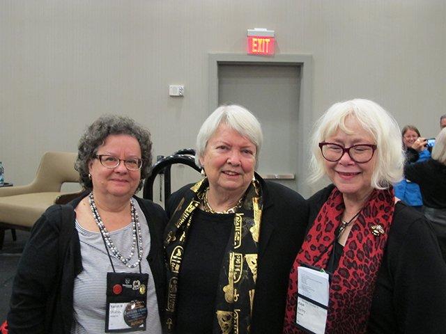 Sarah Shaber, Margaret Maron, Me - Raleigh Bouchercon 2015