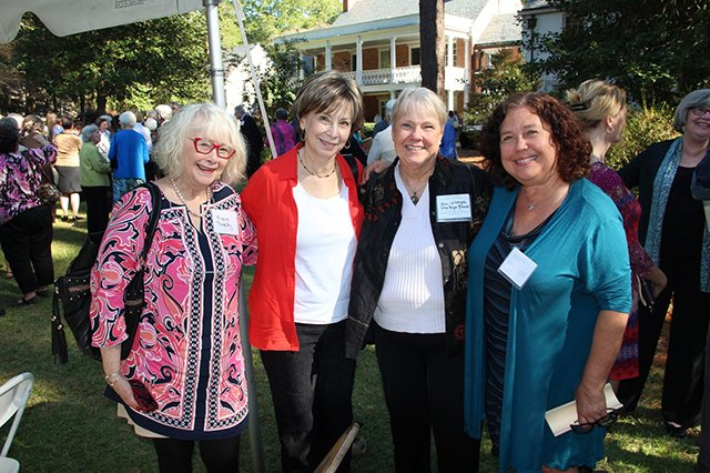 Me Diane Chamberlain Bryn Witcher Katie Munger - Margaret Maaron Being Inducted Into The North Carolina Literary Hall Of Fame - 2016