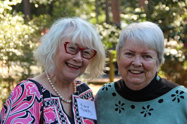 Me And Margaret - Margaret Maaron Being Inducted Into The North Carolina Literary Hall Of Fame - 2016