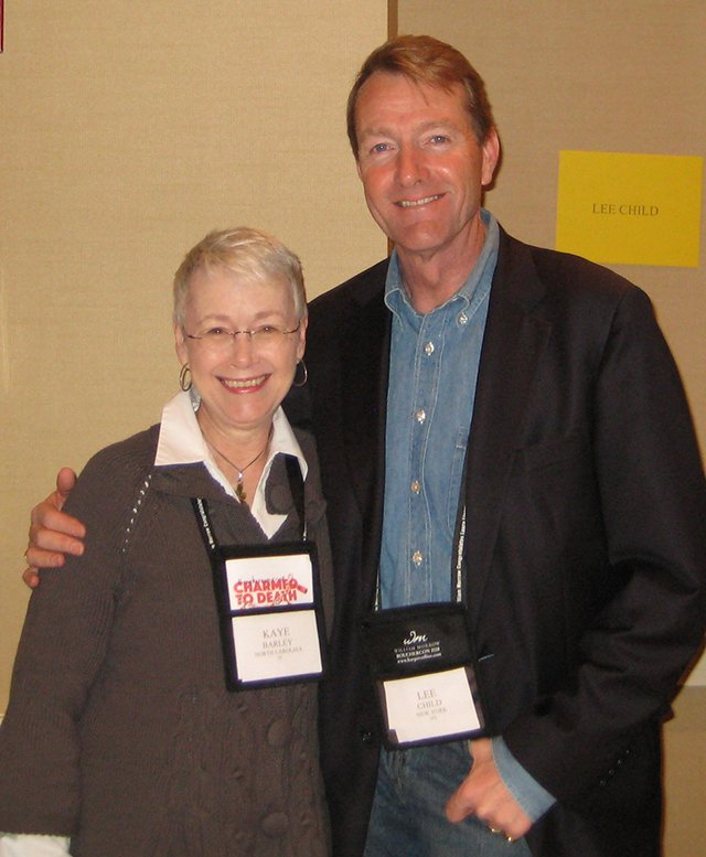 Me With Lee Child - Baltimore Bouchercon 2008