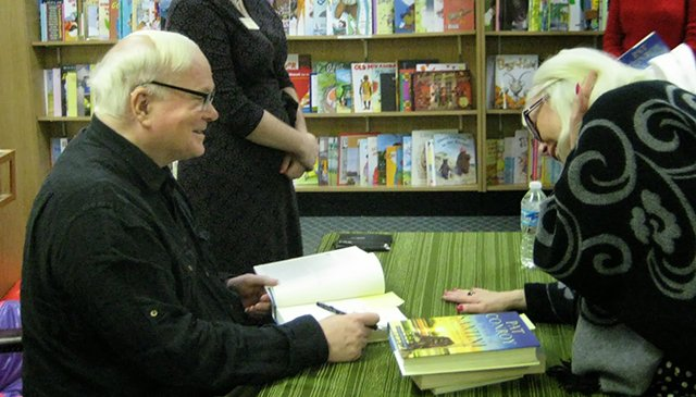 Me With Pat Conroy - Park Road Books Signing 2013