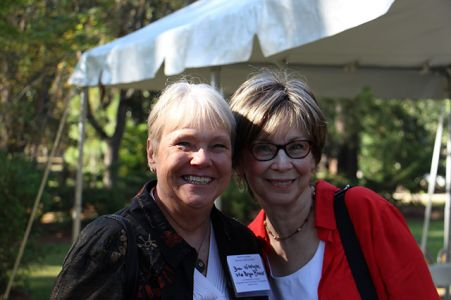 Bryn Witcher And Diane Chamberlain - Margaret Maaron Being Inducted Into The North Carolina Literary Hall Of Fame - 2016