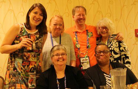 Erica Ruth Neubauer, Penny Halle, Kristopher Zgorsky, Me, Lesa Holstine, Dru Ann Love - Bouchercon New Orleans 2016 Panel