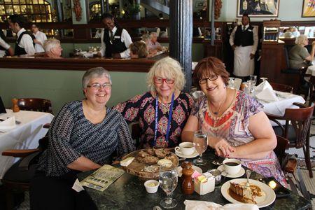 Lesa Holstine, Me, Kathy Boone Reel - Bouchercon New Orleans 2016