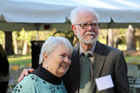 Margaret And Joe Maron - Margaret Maaron Being Inducted Into The North Carolina Literary Hall Of Fame - 2016