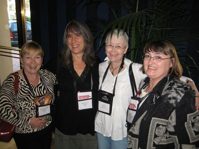 Mary Jane Maffini, Shelley Costa, Me And Aubrey Nye Hamilton - Baltimore Bouchercon 2008