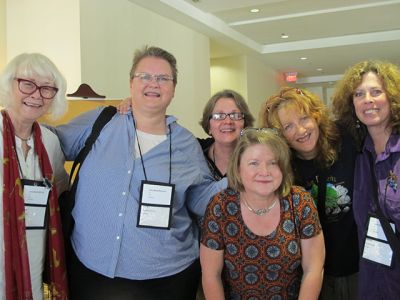 Me, Mary Featherston, Judy Bobalik, Cynthia Westbrook, Fran Read, Janet Rudolph - Raleigh Bouchercon, 2015