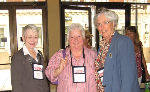 Me, Val McDermid, Laurie King - Baltimore Bouchercon 2008