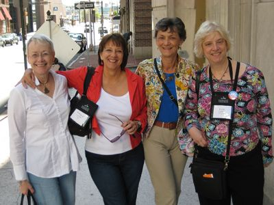 Me With Deborah Crombie, Marcia Talley, Kate Charles - Baltimore Bouchercon 2008
