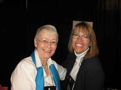Me With Robin Burcell, Indianapolis Bouchercon 2009