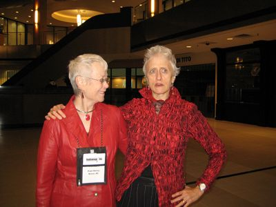 Me With Sarah Paretsky, Indianapolis Bouchercon 2009